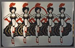 dancers hand lettered