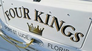 Boat Lettering with Graphics, Port St. Lucie