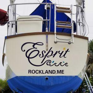 Custom Boat Lettering