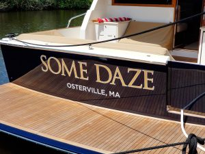 Gold Boat Lettering Decal