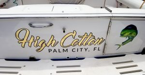 boat lettering transom decal